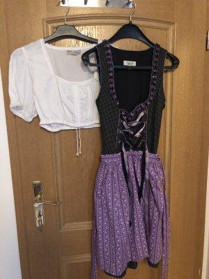 Country Life Midi Dress black-purple