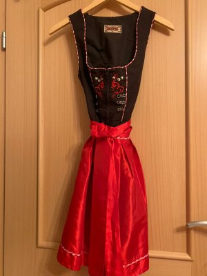 Stockerpoint Dirndl marrone scuro-rosso mattone