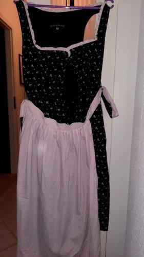 Berwin & Wolff Dirndl nero-rosa chiaro
