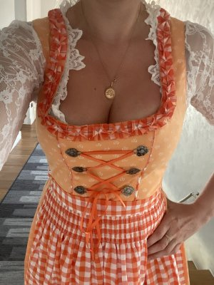 Alpin de luxe Dirndl orange-white