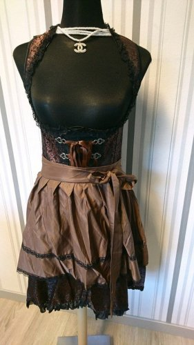 Dirndline Dirndl black-brown mixture fibre