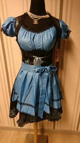 Dirndline Dirndl black-blue mixture fibre