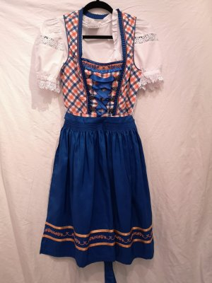Dirndl | blau orange kariert