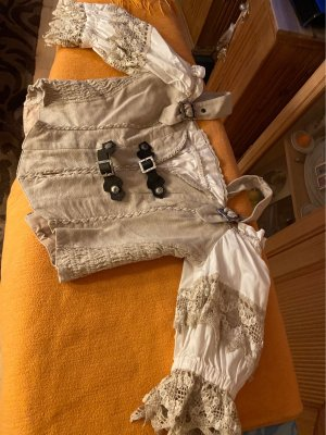 Landhaus Colletto camicia bianco sporco