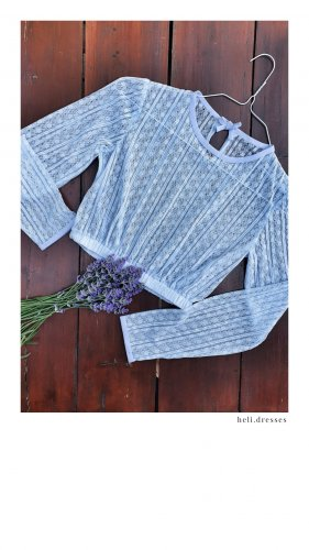 Traditional Blouse purple-lilac