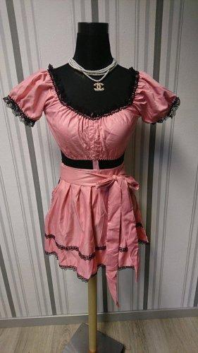 Blusa tradizionale nero-rosa Tessuto misto