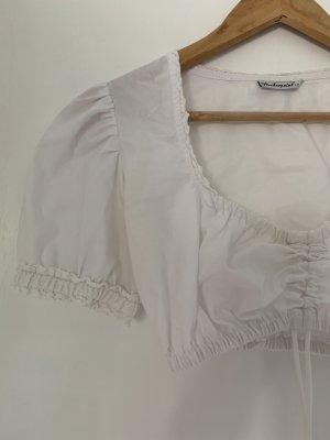 Stockerpoint Blusa in merletto bianco-bianco sporco