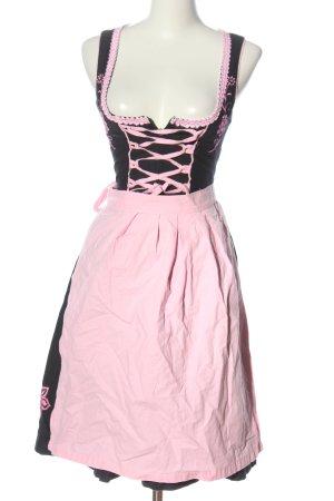 Dirndl.com Dirndl black-pink flower pattern classic style