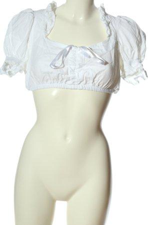 Dirndl.com Folkloristische blouse wit klassieke stijl