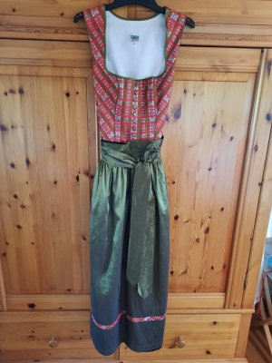 Country Line Dirndl brick red-olive green cotton