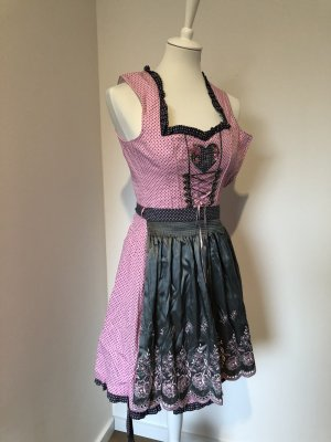 Country Line Dirndl dark grey-pink