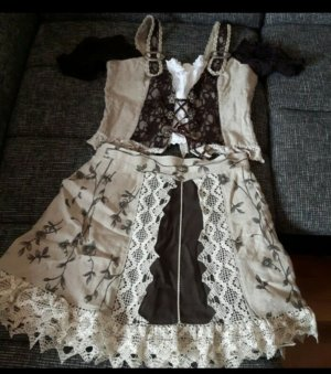 Dirndl brown-beige