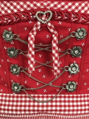 Country Line Dirndl red-dark red