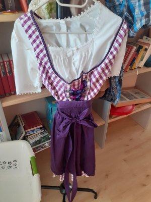 MarJo Vestido Dirndl blanco-violeta