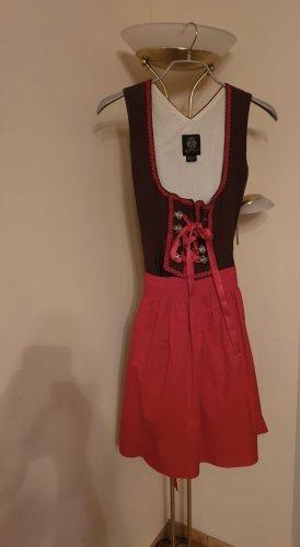 Almenrausch Shortsleeve Dress brown-red