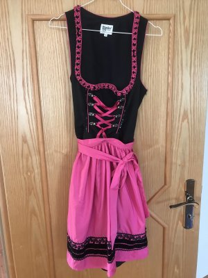 Distler Dirndl black-pink