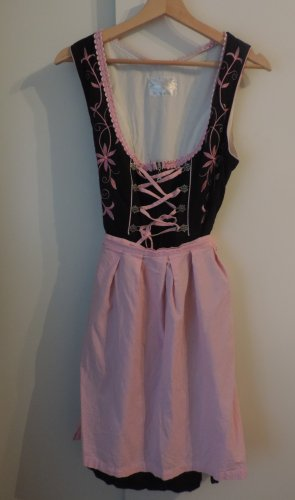 Oscartrachten Dirndl black-pink cotton
