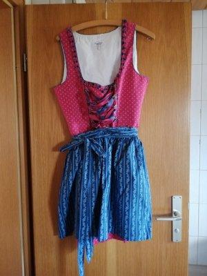 Country Life Dirndl rosa-blu