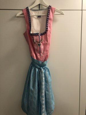 Country Line Dirndl rose-bleu clair