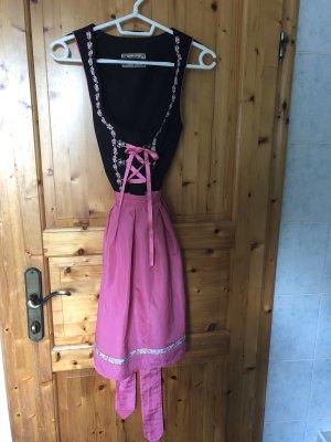 Stockerpoint Dirndl marrone-nero-rosa