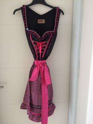Stockerpoint Vestido Dirndl negro-rosa