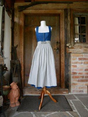 Gottseidank Peplum Dress steel blue linen