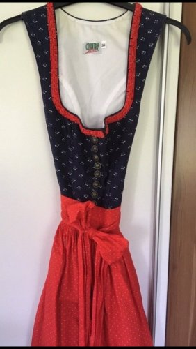 Country Line Dirndl red-blue