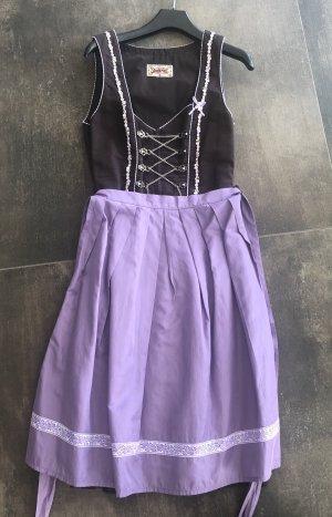 Stockerpoint Dirndl viola-marrone scuro