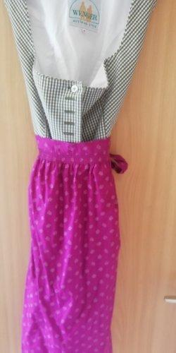 margit wenger Robe à corsage violet-kaki