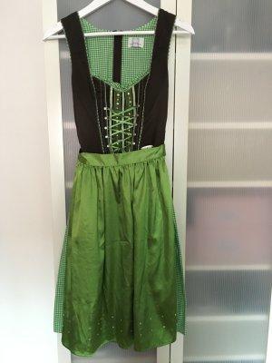 Spieth & Wensky Vestido tradicional verde-blanco