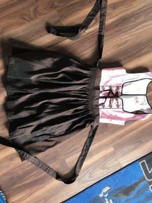 Fuchs Trachtenmoden Traditionele jurk donkerbruin-roze