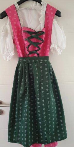 NKD Vestido Dirndl rosa-verde