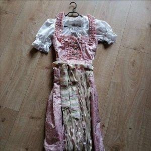 Nockstein Trachten Robe à corsage or rose