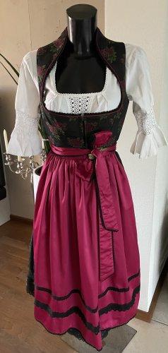 Melega Dirndl noir-rose
