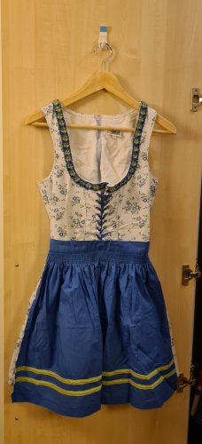 Country Line Dirndl white-blue