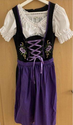 Dirndl violet foncé-noir