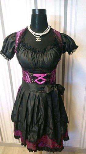 Dirndl mit Bluse aus Brokat (70000) in lila/schwarz Größe 40/42
