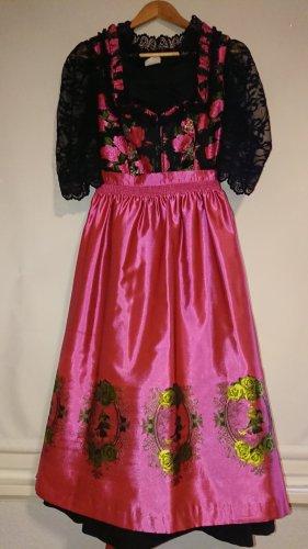 Wenger Austrian Style Dirndl noir-rose tissu mixte