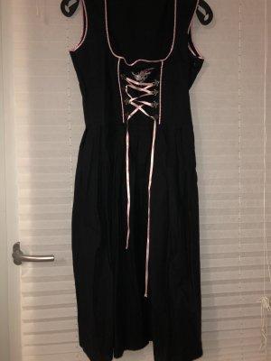 Trachtenpoint Vestido Dirndl negro-rosa
