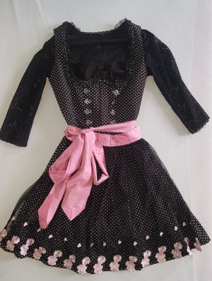Original Steindl Dirndl dark brown-light pink cotton