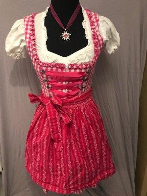 Dirndl white-pink