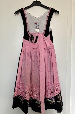 Rose Dirndl aus Bayern Dirndl black-neon pink