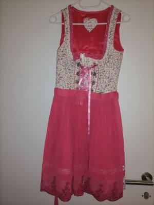 Dirndl rosa pink blumen Spieth & Wensky XS 34