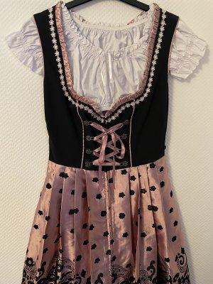 Dirndl roségold/schwarz