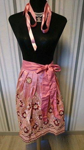 Tablier bavarois rosé tissu mixte