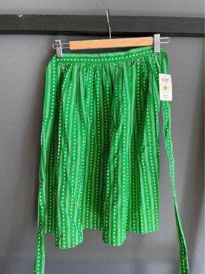 Original Steindl Tradycyjny fartuch  zielony-biały