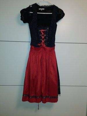 Dirndl schwarz/rot