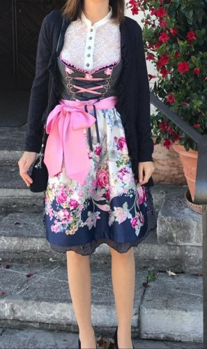 MarJo Dirndl rosa chiaro-blu scuro