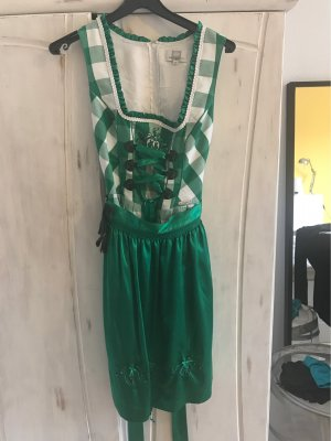 Spieht & Wensky Vestido Dirndl verde bosque-blanco