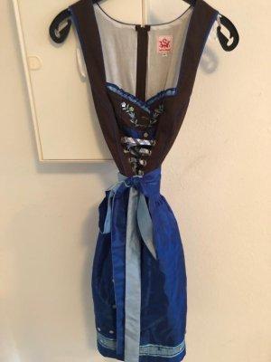 Spieth & Wensky Dirndl blu-marrone-nero